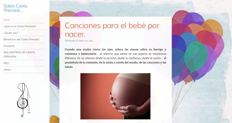 Sobre Canto Prenatal